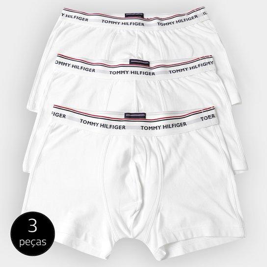 a918be5a0b26c0 Kit Cueca Tommy Hilfiger Boxer 3 Peças - Branco