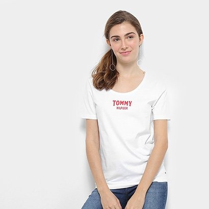 Camiseta Tommy Hilfiger Tyara Scoop-Nk Feminina