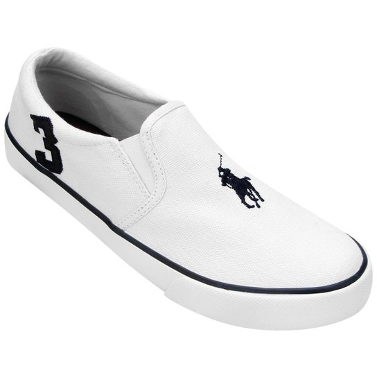 Tênis Polo Ralph Lauren Seth Slip On Infantil - Compre Agora  61cca6cb5ad