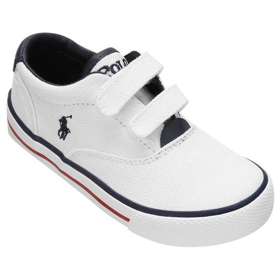 Tênis Polo Ralph Lauren Vaughn EZ Canvas Infantil - Compre Agora ... 0e68c510193