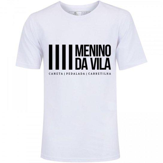Camiseta Zé Carretilha Santos Menino da Vila Masculina - Branco ... 4d49d1b220716