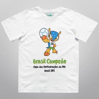 2a6bca956ecea Camiseta FIFA Mascote Brasil Campeão Infantil