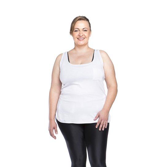 4fddefbf7e Regata Fitness Plus Size Tocket - Preta - Ps - Branco