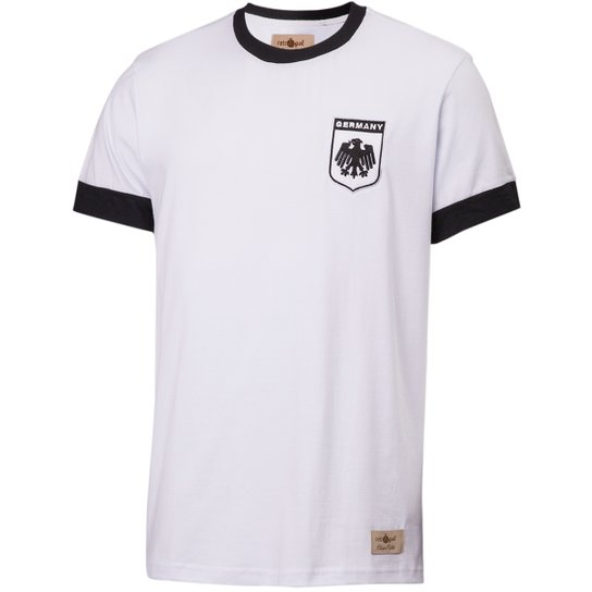 42fc641982 Camisa Retrô Gol Réplica Seleção Alemanha 1974 Torcedor - Branco ...