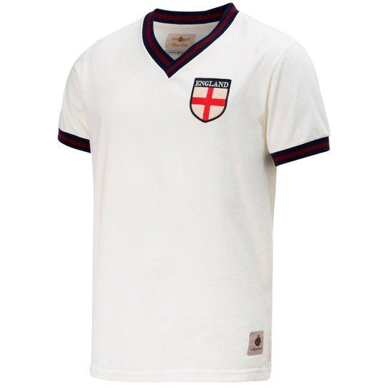 abd62c316dfc8 Camisa Retrô Gol Seleção Inglaterra Edição Limitada Masculina - Branco