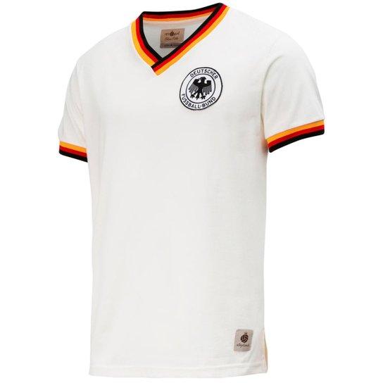 985e02e47c Camisa Retrô Gol Seleção Alemanha Edição Limitada Masculina - Branco ...