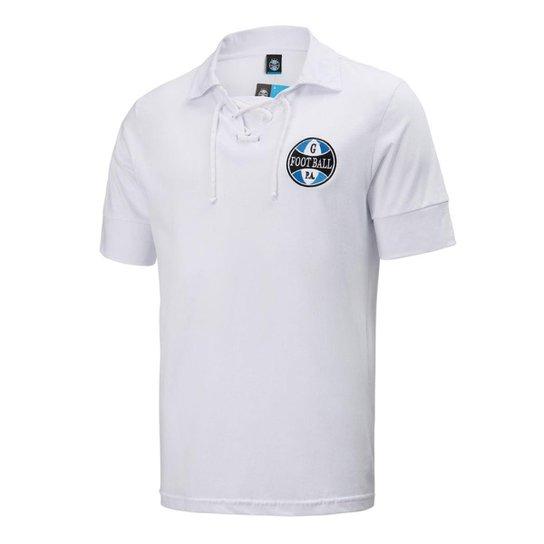 5c89fea4d078d Camisa Polo Grêmio Retrô Masculina - Branco - Compre Agora
