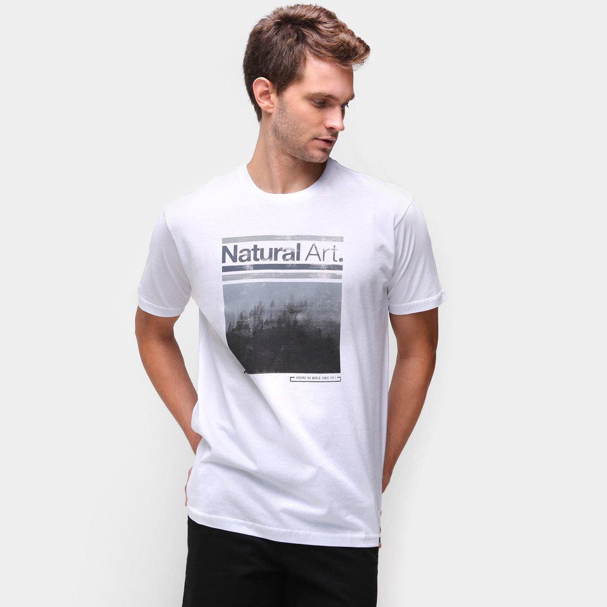Camiseta Natural Art Winter Montain Masculina