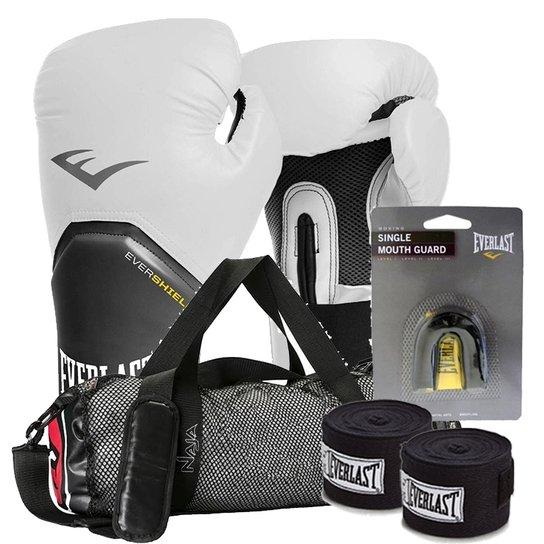 e92bc0b89 Kit Boxe Elite Everlast + Bolsa Naja 12Oz Branco - Compre Agora ...