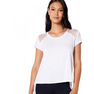 2dcc55cb8805 Camisetaa T-Shirt Amaro Mesh Shoulder Feminina