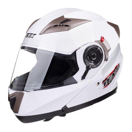 57b9924e8 Capacete Motociclista Texx Gladiator Articulado Branco - Branco ...