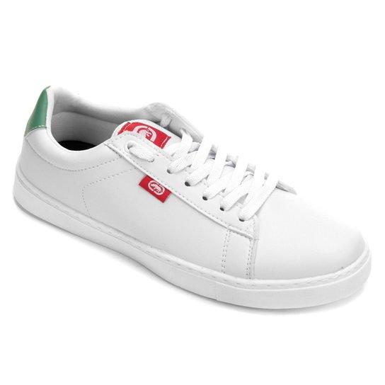 933d71e9042 Tênis Ecko Court Masculino - Branco e Verde - Compre Agora