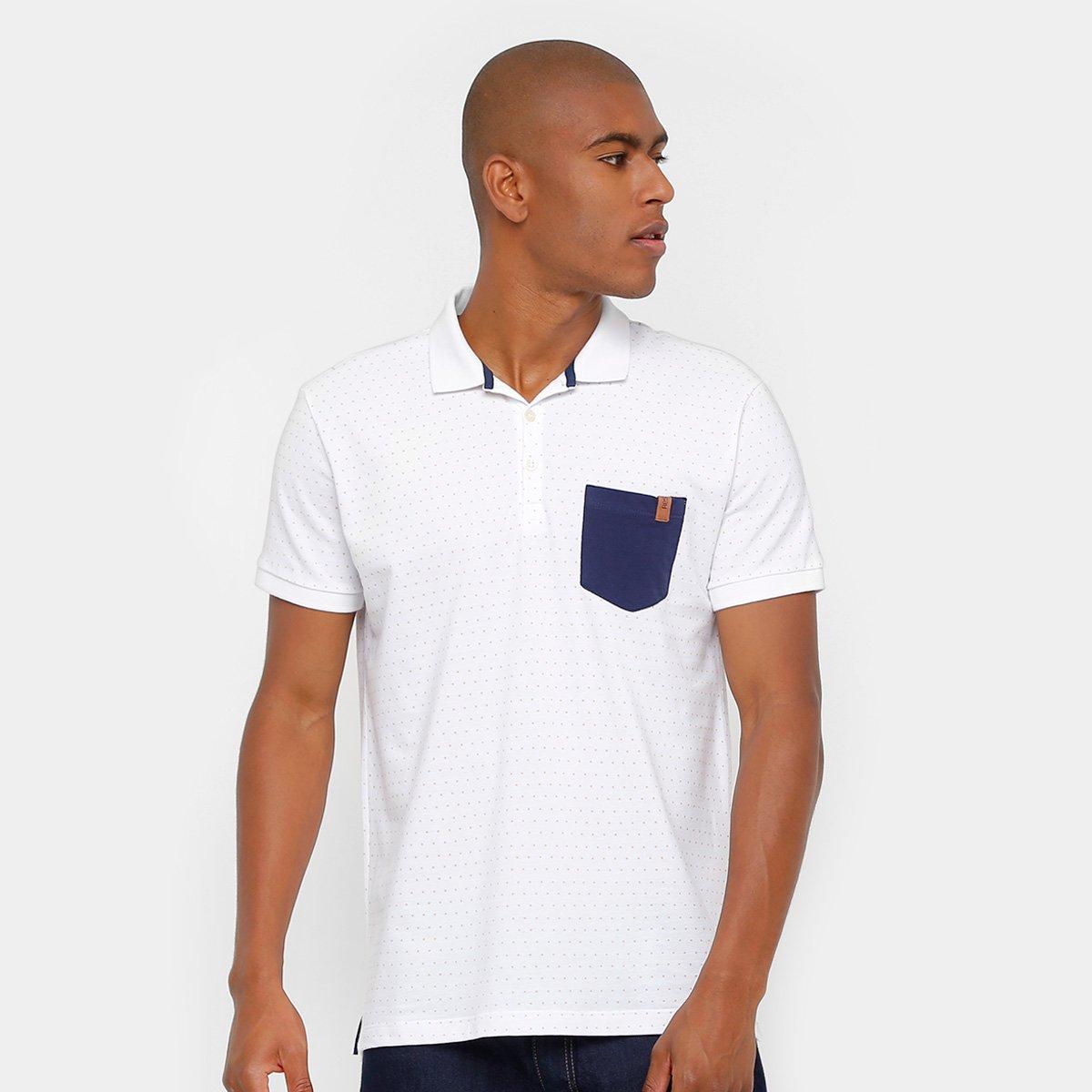 Camisa Polo Reserva Piquet Poá Bolso Masculina. undefined 5e24b6238340e