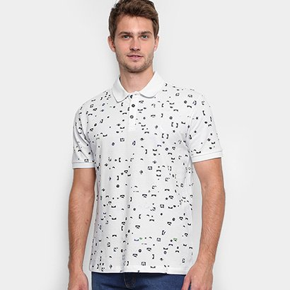 Camisa Polo Reserva Piquet Full Print Pátria Masculina
