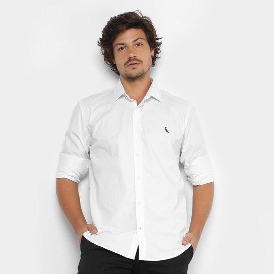 Camisa Reserva Slim Fit Manga Longa Masculina - Branco - Compre ... 73a35ab531e57