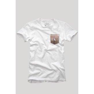 f2291f7db6 Camiseta Bolso Xadrez Quadrilha Reserva Masculina