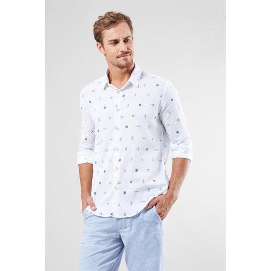 8431670c6 Camisa Reserva Pf Manga Longa Nautica Masculina - Branco - Compre ...