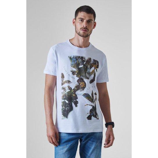 6c02f44c8 Camiseta Reserva Estampada Vida - Branco - Compre Agora