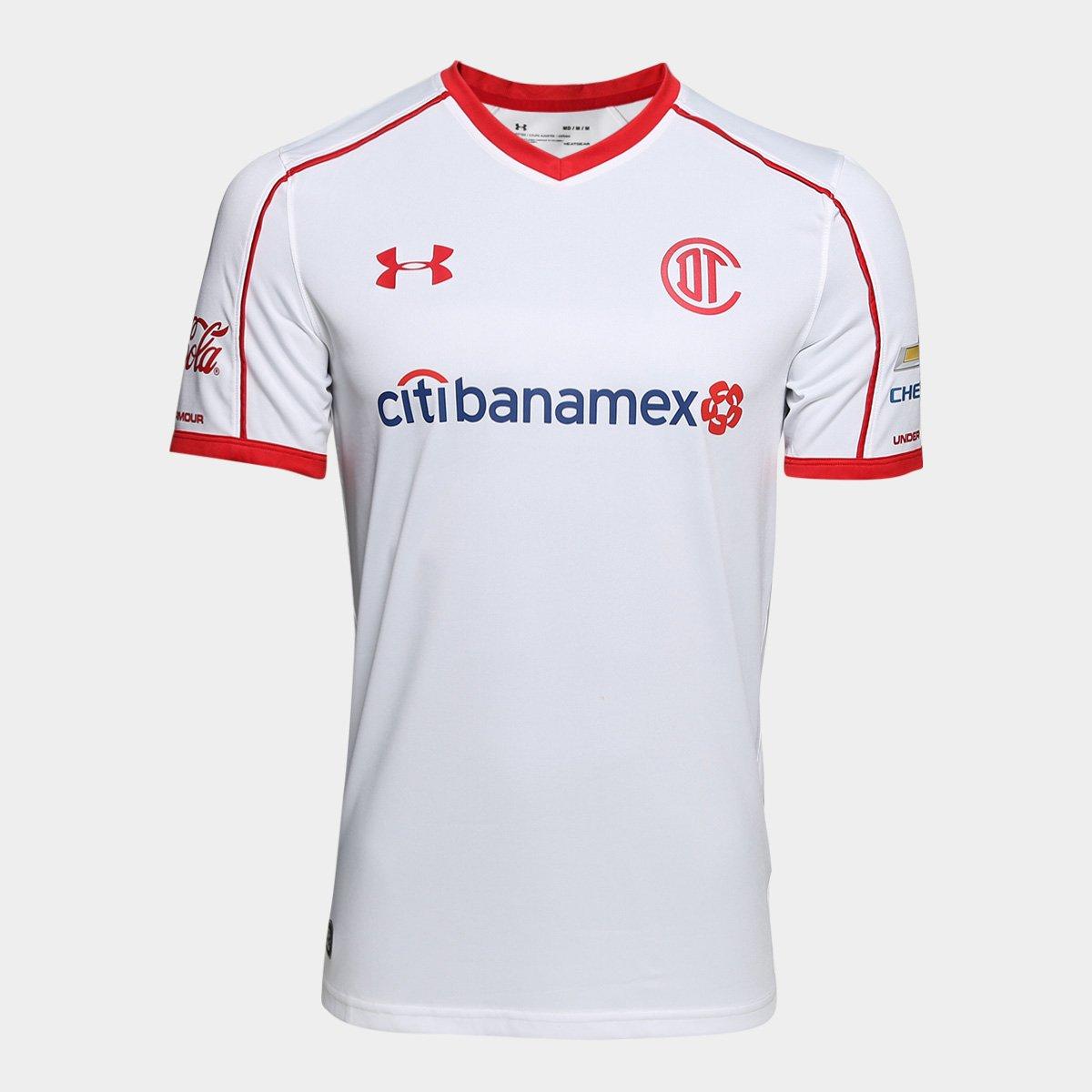 d54c4ecd21 Camisa Toluca Away 17 18 s n° - Torcedor Under Armour Masculina