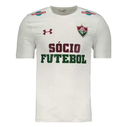 Camisa Under Armour Fluminense II 2017 Performance com Patrocínio - Branco e47b3dba20e52