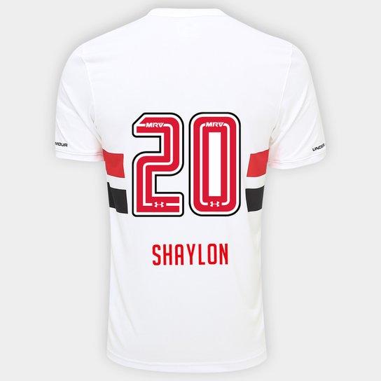 e01dfbc472a24 Camisa São Paulo I 17/18 nº 20 Shaylon Torcedor Under Armour Masculina -  Branco