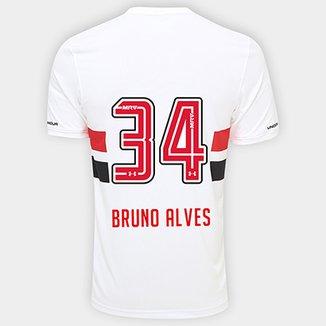 3344e86b331 Camisa São Paulo I 17 18 nº 34 Bruno Alves Torcedor Under Armour Masculina