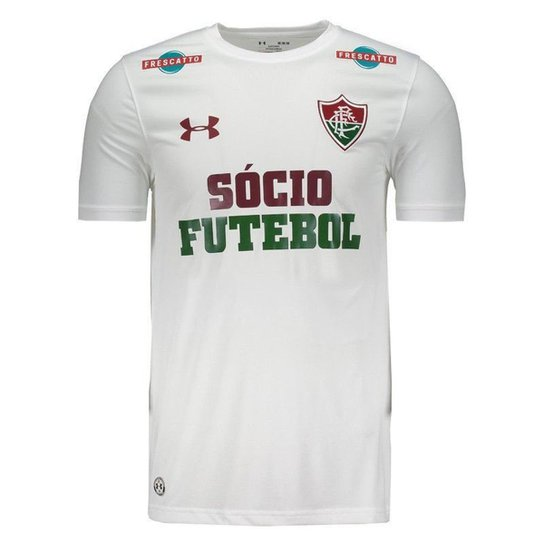 73d6fb2943 Camisa Under Armour Fluminense II 2017 Com Patrocínio Masculina - Branco