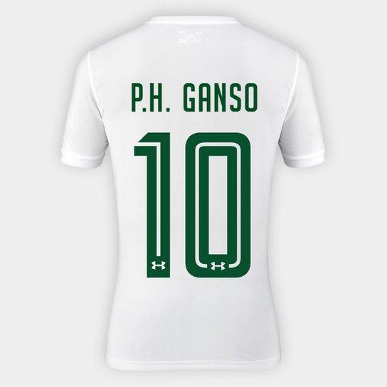 Camisa Fluminense II 17 18 P.H. Ganso nº 10 Torcedor Under Armour Masculina  - Branco acb87d80d6449