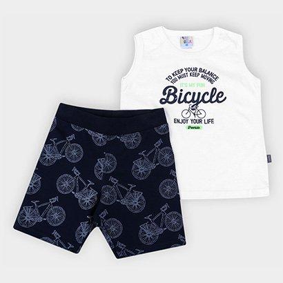 Conjunto Infantil Pulla Bulla Bicycle Masculino