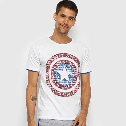 Pijama Evanilda Curto Avengers Capitão América Masculino
