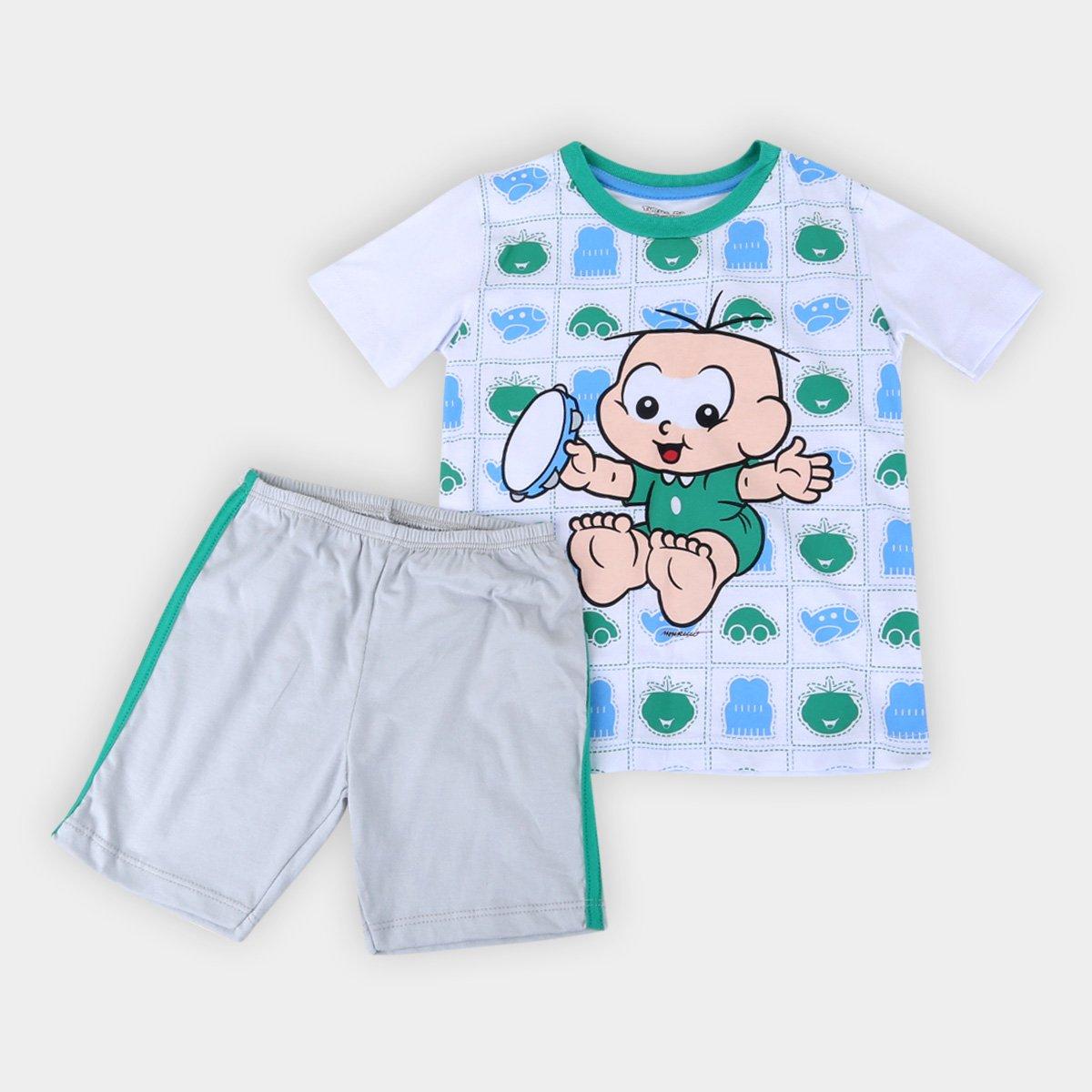 Pijama Infantil Evanilda Turma da Mônica Primeiros Passos Masculino