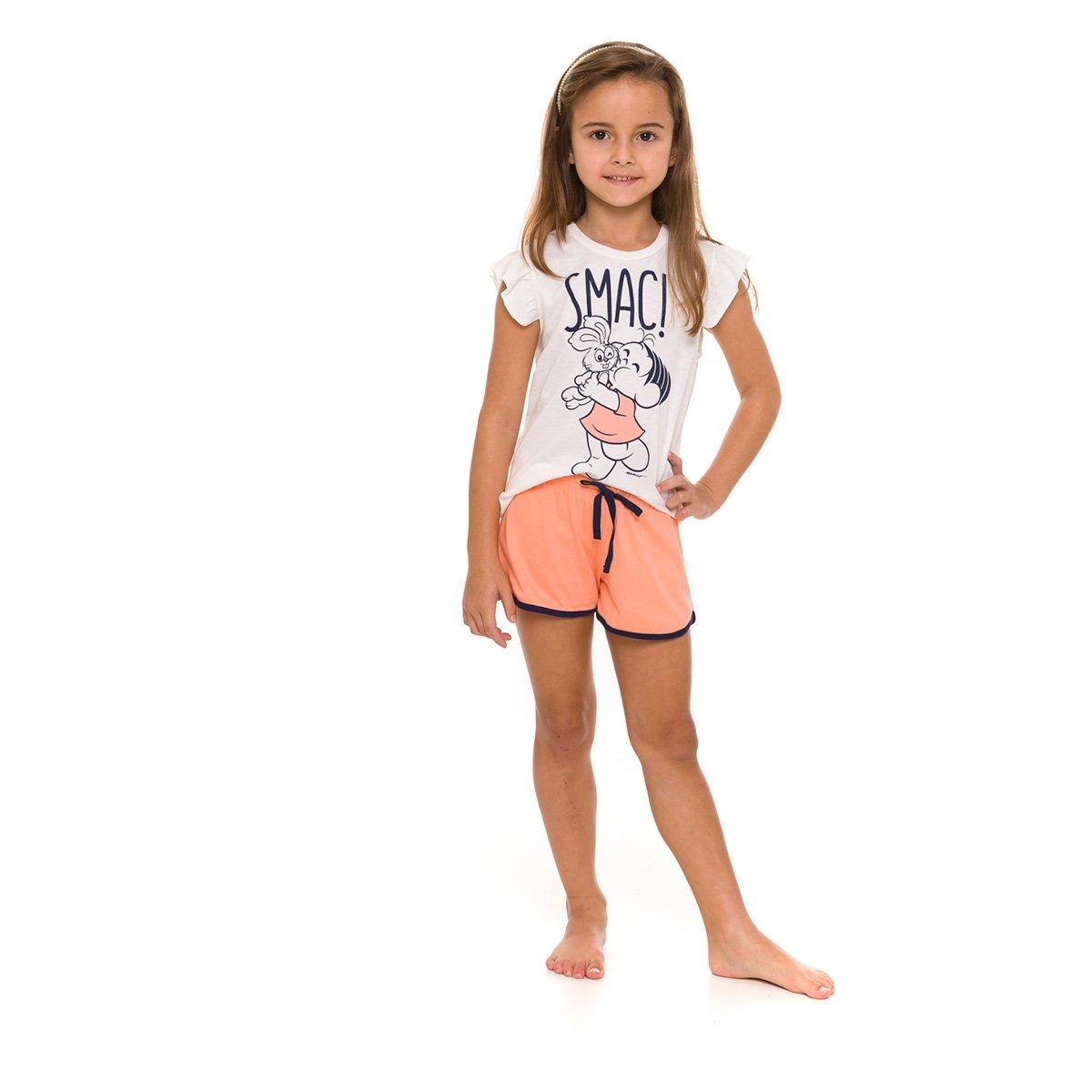 Pijama Infantil Evanilda Turma da Mônica Feminino