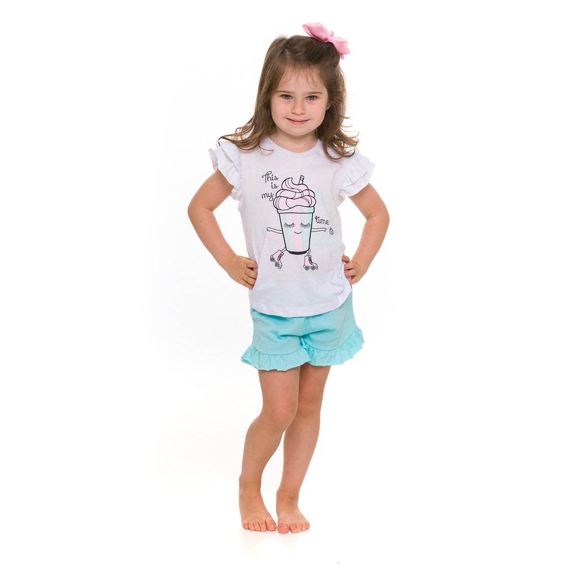 Pijama Infantil Evanilda Shine Feminino
