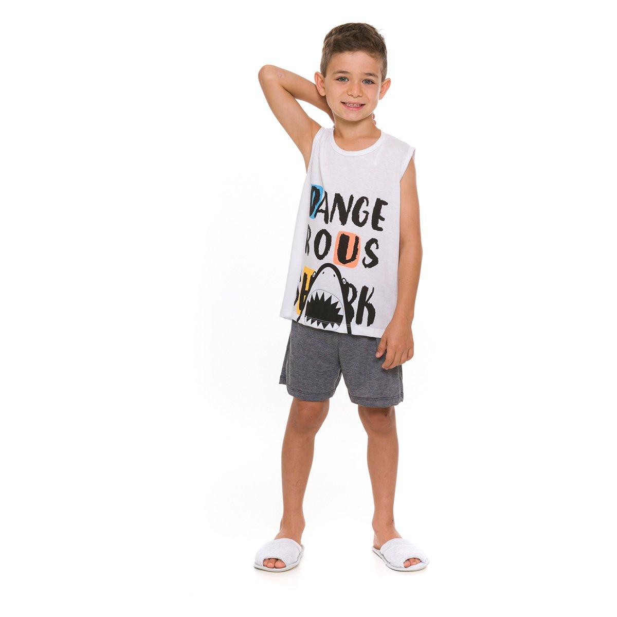 Pijama Infantil Evanilda Shark Masculino