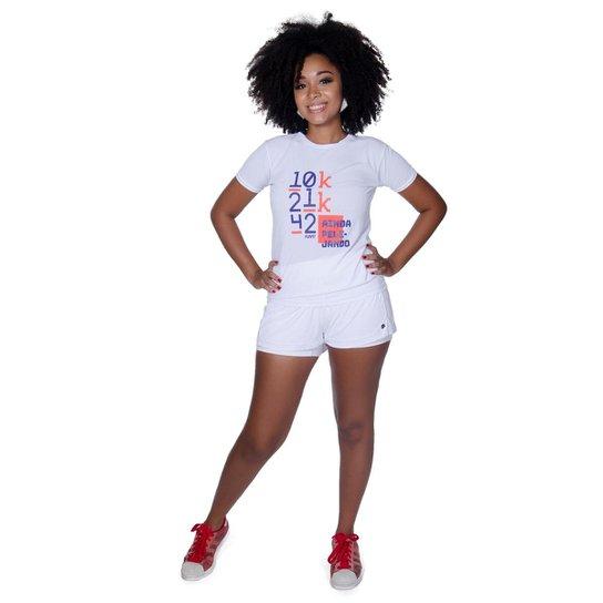 Camiseta Premium Funfit Feminina - Branco - Compre Agora  78519ceb7360e