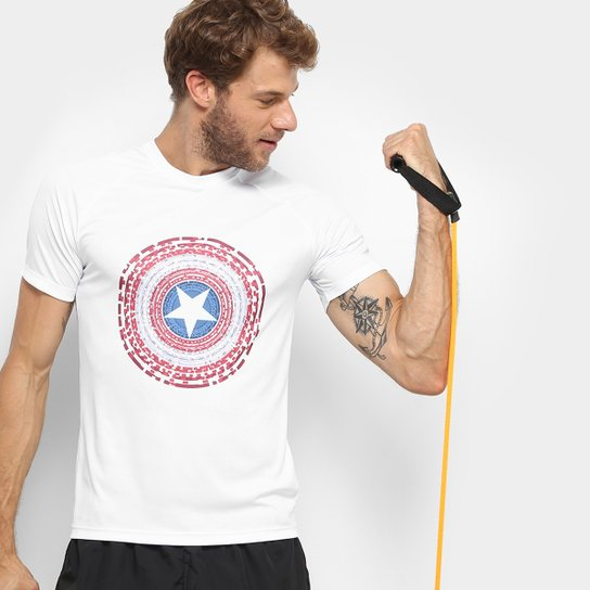 Camiseta MARVEL Capitão América Masculina - Compre Agora  b9f6ef0725179