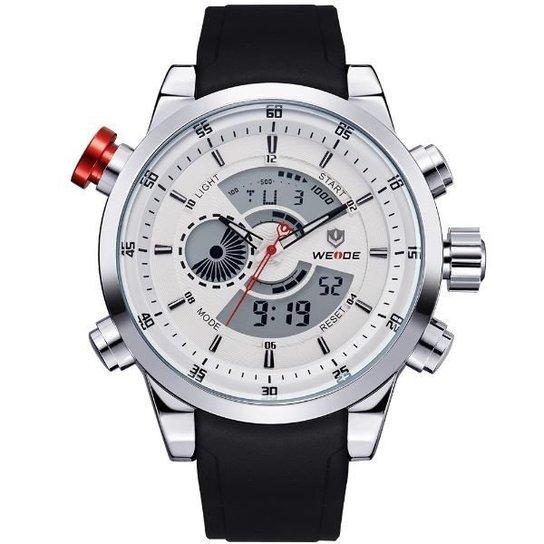 a3c1bce4d50 Relógio Weide Anadigi WH-3401 - Branco - Compre Agora