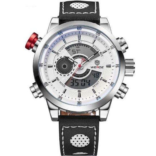 de96dcc7186 Relógio Weide Anadigi WH-3401-C - Branco - Compre Agora