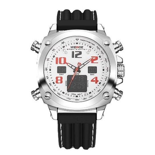 b1d426e5bc3 Relógio Weide Anadigi WH-5208 - Branco - Compre Agora