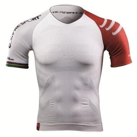 cfb735e4f5 Camisa de Compressão Compressport Triathlon - Branco - Compre Agora ...