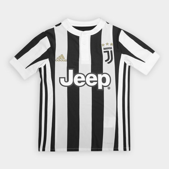 Camisa Juventus Infantil Home 17 18 s nº Torcedor Adidas - Compre ... e41018c0b8abb