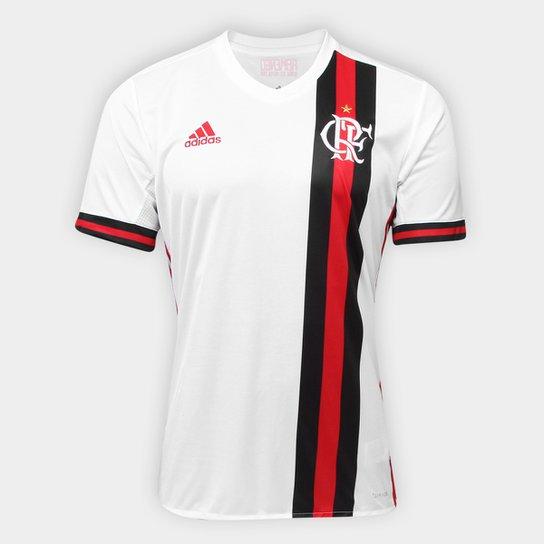Camisa Flamengo II 17 18 s nº Torcedor Adidas Masculina - Branco+Vermelho c227c536ff077