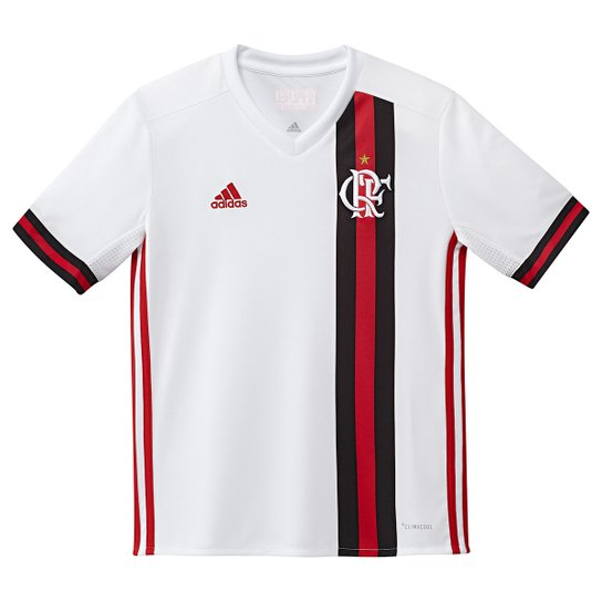 Camisa Flamengo Infantil II 17 18 s nº Torcedor Adidas - Branco+Vermelho 3a75152fee3ff