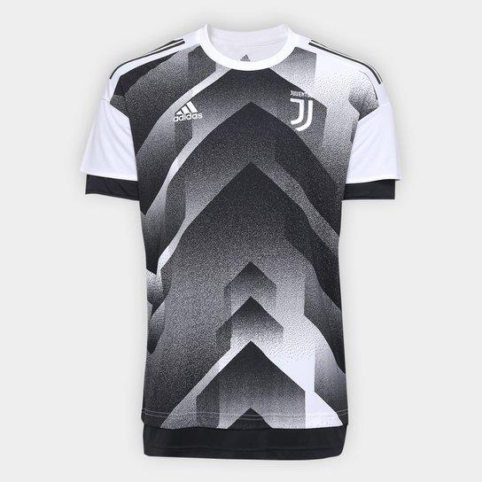 54a836d0d6a32 Camisa Juventus Pré Jogo 17/18 Adidas Masculina - Branco+Preto ...