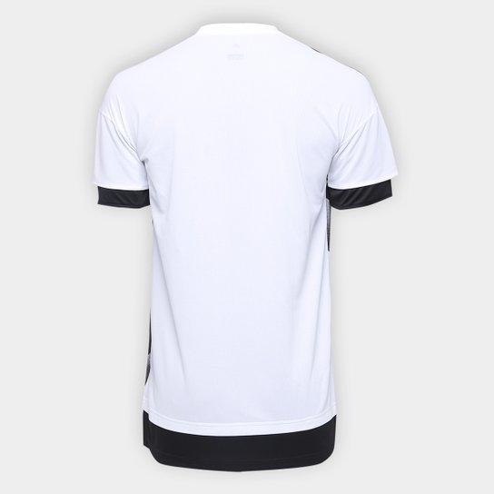 f12d0718f45d5 ... Camisa Juventus Pré Jogo 17/18 Adidas Masculina - Branco+Preto ...
