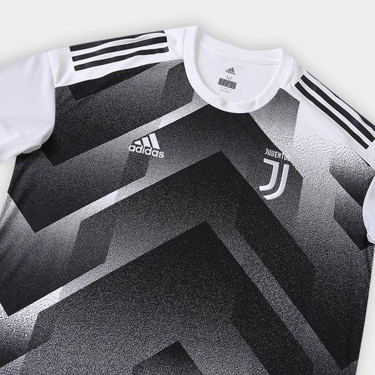 6102903d1165e ... Camisa Juventus Pré Jogo 17/18 Adidas Masculina - Branco+Preto