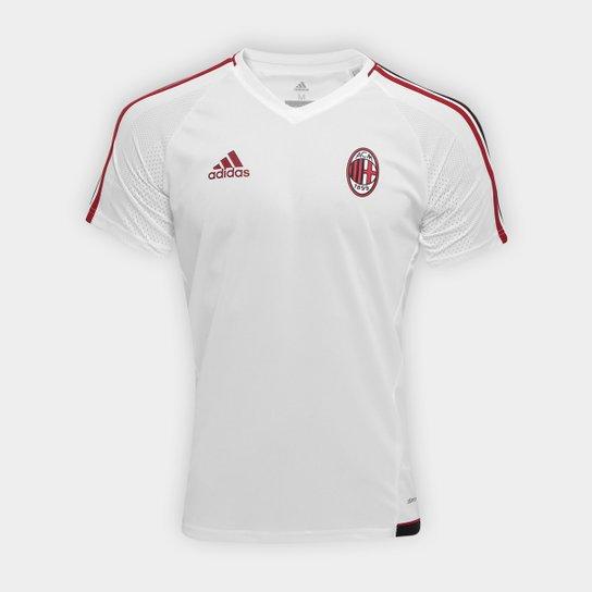 42e56762cbdf0 Camisa de Treino Milan 17 18 Adidas Masculina - Branco+Vermelho