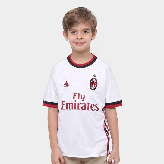 Camisa Milan Infantil Away 17 18 s nº Torcedor Adidas - Compre Agora ... 25dd9aa95c5d5