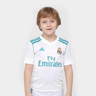 26e915dae Camisa Real Madrid Infantil Home 17 18 Torcedor Adidas