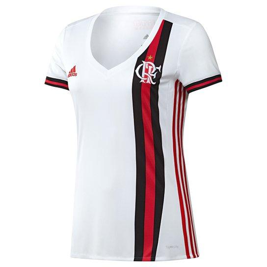 Camisa Flamengo II 17 18 s nº - Torcedor Adidas Feminina - Compre ... d078537243dac